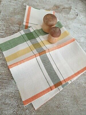 French Linean Multicolor Tea Towels
