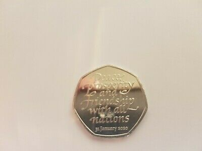2020 Brexit 50p coin uncirculated
