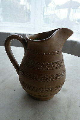 Lovely French Antique / Vintage Glazed Rustic Pitcher Jug - Hand Decorated