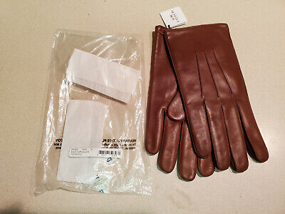 Mens Genuine Nappa Leather High Quality Cashmere Lined Warm Gloves On Sale #E05