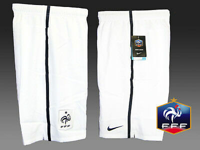 New NIKE FRANCE Federation Shorts White Youth Boys Girls L Age 12-13 Yrs