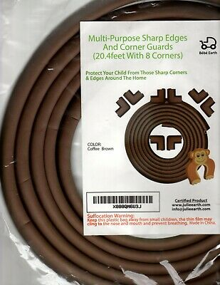 Edge & Corner Guard Protector Set Baby Furniture Safety Bumper Brown Sharp Edges