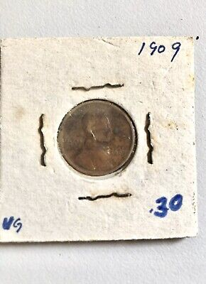 1909 Lincoln Wheat One Cent In Paper Case