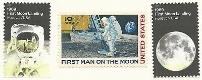 1969 2019 APOLLO 11 FIRST MAN ON THE MOON Neil Armstrong 50th Anniversary Stamps