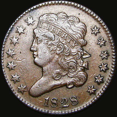 1828 Classic Head Half Cent Penny US Coin ---- NICE Type Coin  ---- #X631