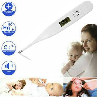 LCD DIGITAL AUDIBLE THERMOMETER Temperature Fever Kids Adults Baby Oral Underarm