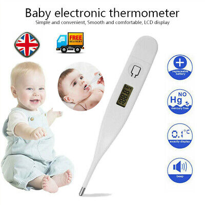 LCD Digital Thermometer Medical Baby Adult Body Kid Safe Ear Mouth Temperature