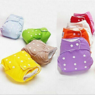 1PC Nappies Adjustable Reusable Lot Baby Kids Boy Girls Washable Cloth Diaper