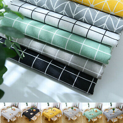 Rectangle Wipe Clean Party Tablecloth Cover Vinyl Oilcloth Wipeable Protector