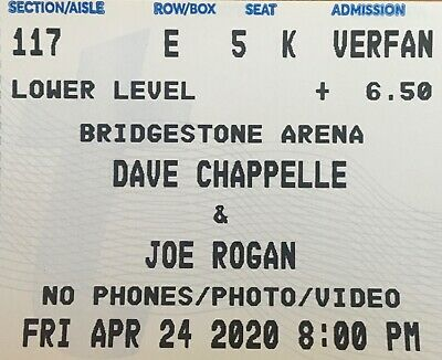 2 Tickets Dave Chappelle & Joe Rogan 4/24/20 Bridgestone Arena Nashville, TN