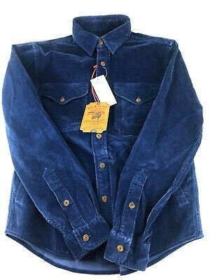 POLO Ralph Lauren Mens Blue Corduroy Hunting Workshirt Size M | RRP £150