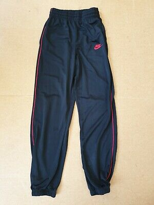 Cc810 Kids Nike Black Red Cuffed Tapered Tracksuit Bottoms 13-15 Years W28 L28