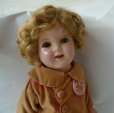 "Vintage 1930s 18"" Compo Ideal Dressed Make Up Shirley Temple Doll"