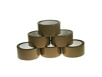 Brown Buff Tape Parcel Packing Packaging Cellotape Box Sealing 48MM x 66M Roll