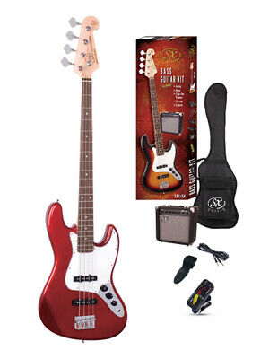 ESSEX SB1-SK-CAR JB STYLE BASS PACK CANDY APPLE RED  Amp 15 Watt Tuner Bag Lead