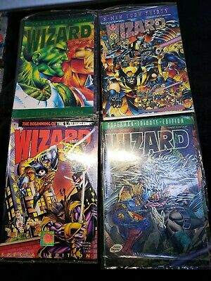 Wizard Special Edition Comic Guide Lot Xmen, Superman First Edition