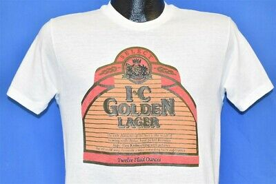 vintage 80s I.C. IRON CITY GOLDEN LAGER BEER LOGO PITTSBURGH BREWING t-shirt M