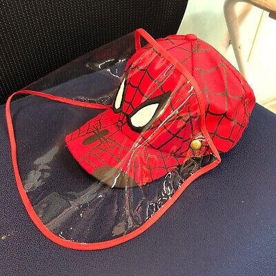 Spiderman Kids hat with protection cover/ sunscreen