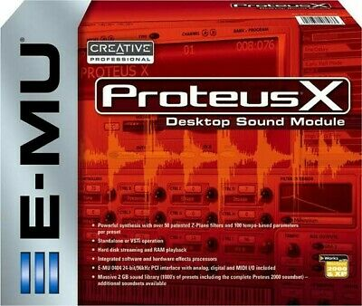 E-MU PROTEUS X PCI Sound Card NEW Never Used Full Retail Packaging and Software