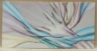 "Large Textured Surface Abstract Painting Signed Beaumont 24"" X 48"" Original Art"