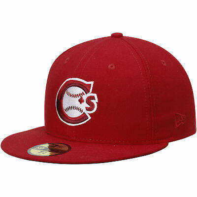 Vancouver Canadians New Era Authentic Home 59FIFTY Fitted Hat - Red