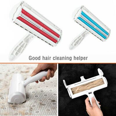 Reusable Pet Hair Remover Sofa Clothes Lint Roller Brush Dog Cat Fur Cleaner UK