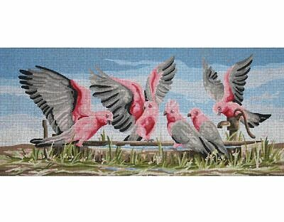GALAHS BY THE WATERPUMP Tapestry Design Printed On Canvas TFJ-1006