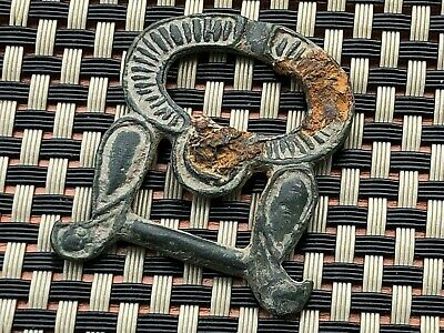 Ancient Late Roma Or Byzantine Medieval Bronze Buckle Circa 400-800 Ad.