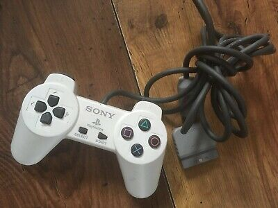 SONY Playstation PS1 WHITE CONTROLLER SCPH-1080 RARE & TESTED Official