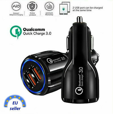 USB Quick Charge 3.0 2.0 Car Mobile Phone Charger 2 USB Port Fast Charger tablet