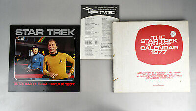 Vintage Retro Star Trek Stardate 1977 Calendar with Original Mailing Box