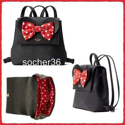 Kate Spade New York X Minnie Mouse Small Neema Backpack Black Wkru6608 Nwt $328