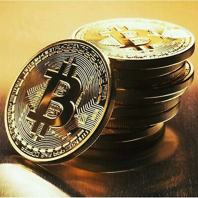 Bitcoin Gold Silver Plated Physical Cryptocurrency Enthusiasts Collectors Coin