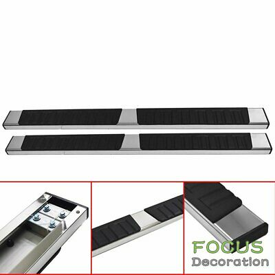 """Fit 04-14 Ford F150 Super Crew Cab 5/"""" Running Boards Side Step Nerf Bar S//S DH"""
