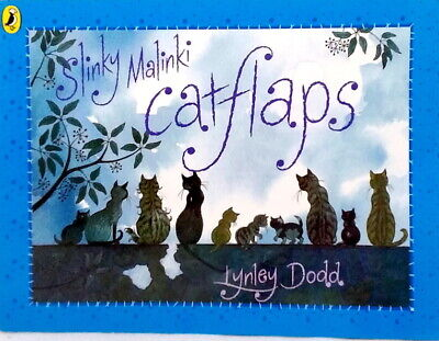 Slinky Malinki Catflaps by Lynley Dodd new paperback picture book cats dogs