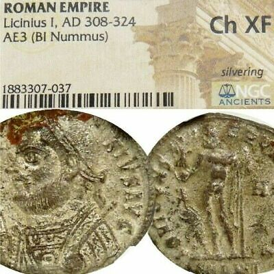 LICINIUS I NGC CHOICE XF RARE+ RIC JUPITER, Captive Ancient Roman Imperial Coin