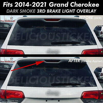 Third Brake Light SMOKE Rear Precut Tint Overlays Vinyl 14-20 Grand Cherokee 3rd
