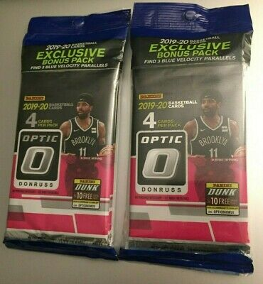 (2) 2019-20 PANINI DONRUSS OPTIC NBA Unopened Retail CELLO VALUE PACKS Zion RC?