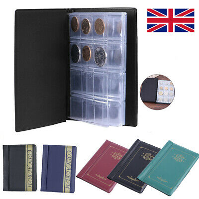 120 Album Coin Penny Money Storage Book Case Folder Holder Collection 2-Style UK