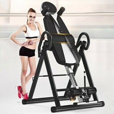 Inversion Table Fitness Chiropractic Back Stretcher Heavy Duty Reflexology Pads