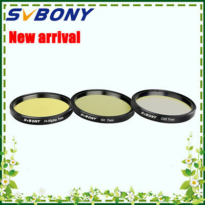 SVBONY 7nm Narrow-Band Filters kits (H-Alpha+SII-CCD+OIII-CCD)for Deep Sky NEW