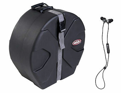 SKB 1SKB-D5514 5 1/2x14 Snare Case with Padded Interior+Free Bluetooth EarBuds