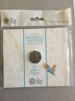 2020 Peter Rabbit 50p Fifty Pence Coin To Preorder Royal Mint BU Sealed Pack.
