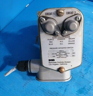 BARKSDALE C9622-2 PRESSURE ACTUATED SWITCH (rs2.1b5)