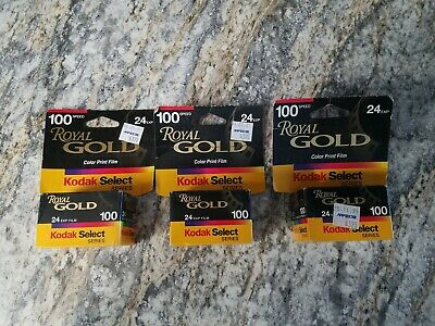 NEW Lot of 3 Vintage Kodak Royal Gold Film 100 72 Pictures Expired 2001 Select