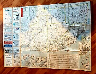 Vintage BIG MAP of UNITED STATES -Western  Roadmap Art large advertisement 50s