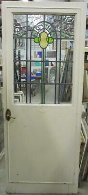 """OLD ENGLISH Stained Glass Door Stunning Simple Sweep Design 32.5"""" x 81"""""""