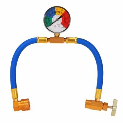 DIY Car Air Conditioning AC R134A Refrigerant Recharge Measuring Hose with Gauge