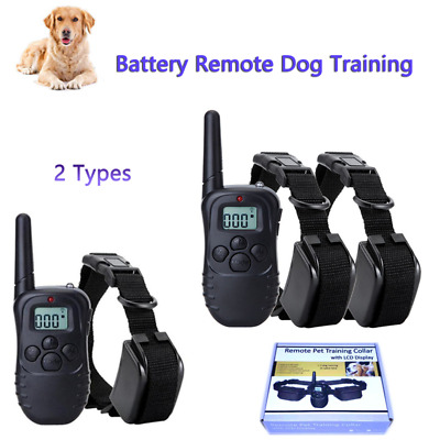 1 X Dog Shock Collar With Remote Waterproof Electric Pet Training Waterproof SS