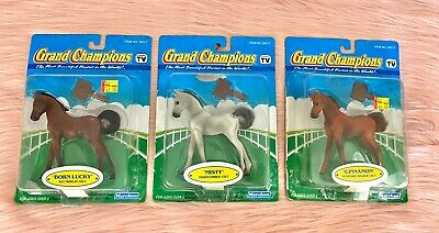 3 Grand Champions Horses - 3 Colts Lot - Born Lucky, Misty, and Cinnamon Figures